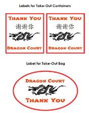 Free printable labels for Chinese Restaurant Dramatic Play Center in preschool, pre-k, or kindergarten via www.pre-kpages.com