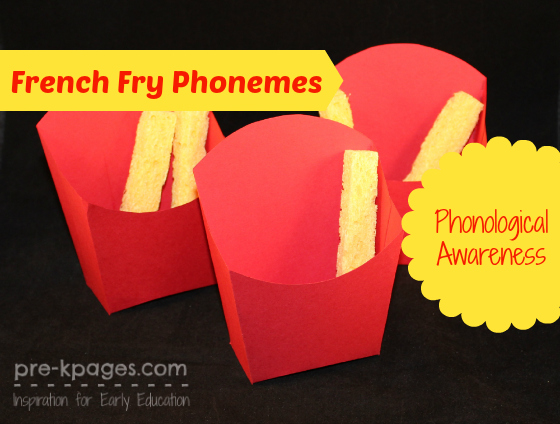 Diy french fry box phonological awareness activity for French fries packaging template