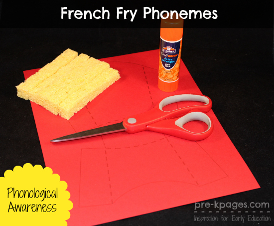 DIY French Fry Boxes For Phoneme Activity Click Picture Directions