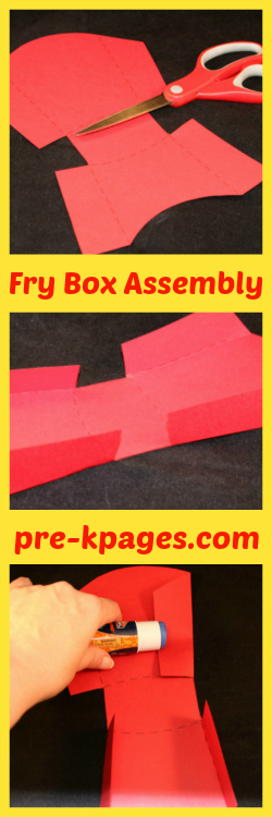 How to Make Your Own French Fry Boxes for Phonological Awareness Activity
