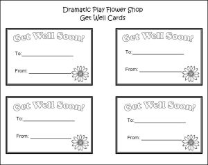 dramatic play get well cards