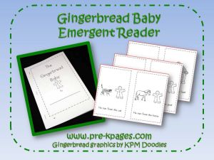 gingerbread emergent reader