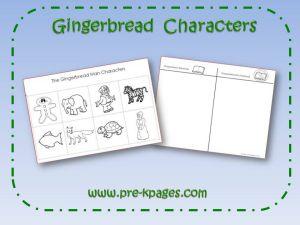 Gingerbread Man Characters Printable | Preschool