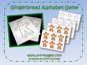 gingerbread letter identification game