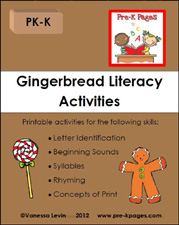 gingerbread literacy activities packet