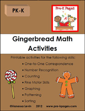 gingerbread math packet