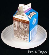 milk carton gingerbread house base