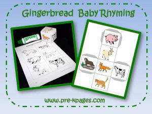 gingerbread rhyming game