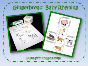 gingerbread rhyming game