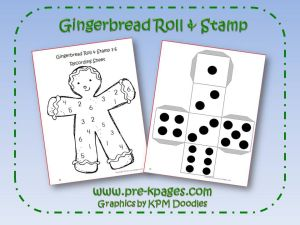 gingerbread roll and stamp game