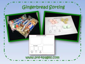 gingerbread sorting activity