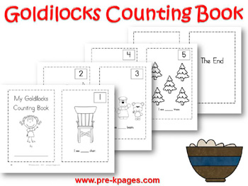 Printable Goldilocks Counting Book
