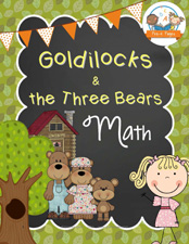 Goldilocks Math Printables for Preschool and Kindergarten