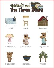 goldilocks mini word wall