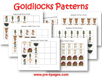 Printable Goldilocks Patterning Activity