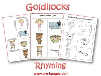 Goldilocks rhyming activity