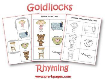 Goldilocks rhyming activity