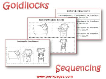 Goldilocks story sequencing activity
