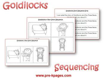 Goldilocks story sequencing activity