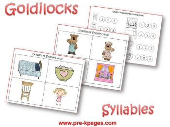 Goldilocks Syllable Activities