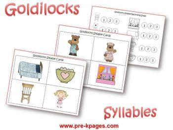 Goldilocks Syllable Activities