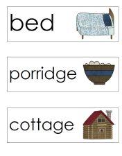 goldilocks word cards