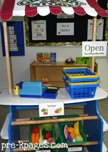 dramatic play farmers market stand