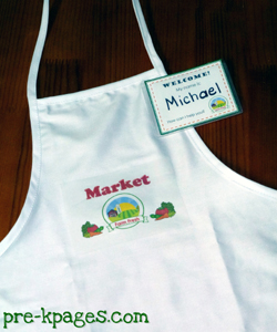 grocery store dramatic play apron