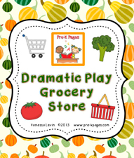 grocery store dramatic play kit cover
