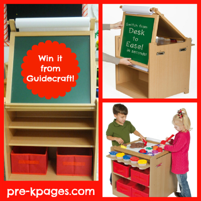 Guidecraft Desk to Art Easel Cart Giveaway