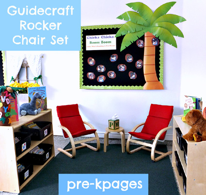 Guidecraft Rocker Chair Set in Classroom Library via www.pre-kpages.com