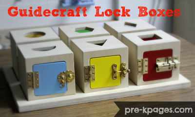 Guidecraft Lock Box Set of Six for Preschool via www.pre-kpages.com