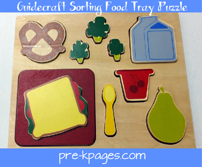 guidecraft sorting food tray puzzle