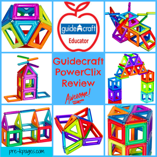 Guidecraft PowerClix Review for #preschool and #kindergarten #STEM