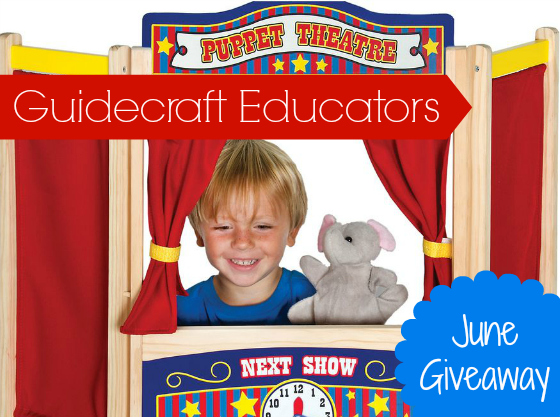 Guidecraft Puppet Theater Review and Giveaway
