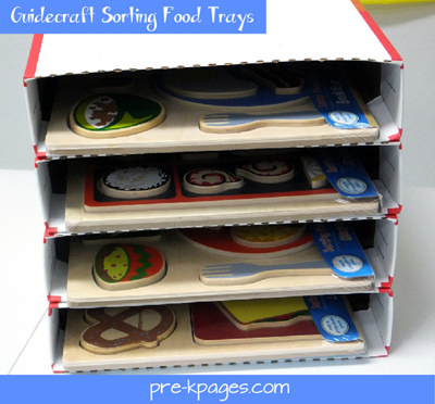 guidecraft sorting food tray puzzles