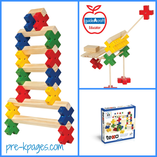 Guidecraft Texo Review and Giveaway for #preschool and #kindergarten