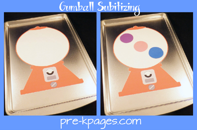 printable gumball machine for subitizing