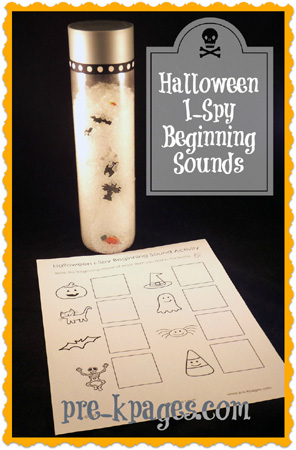 Free Halloween Beginning Sounds I-Spy Activity via www.pre-kpages.com
