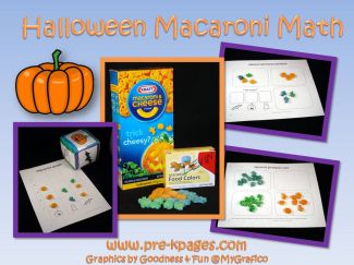 halloween macaroni math activities