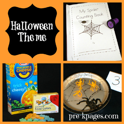 Halloween Theme for Preschool and Kindergarten via www.pre-kpages.com