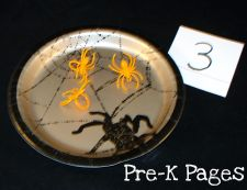 halloween spider ring counting