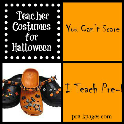 Halloween costume idea for preschool and kindergarten teachers via www.pre-kpages.com