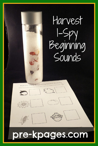 Free Printable Harvest I-Spy Beginning Sounds Printable