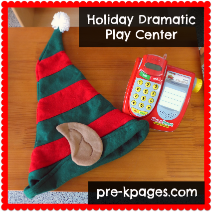 Holiday Dramatic Play Center Printables for Pre-K and Kindergarten via www.pre-kpages.com