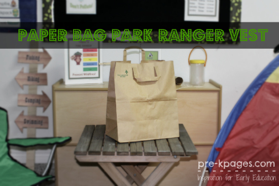 How to Make a Paper Bag Park Ranger Vest for Dramatic Play in Preschool and Kindergarten
