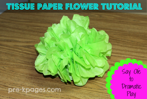 Dramatic play mexican restaurant printables how to make tissue paper flowers for cinco de mayo in preschool and kindergarten mightylinksfo