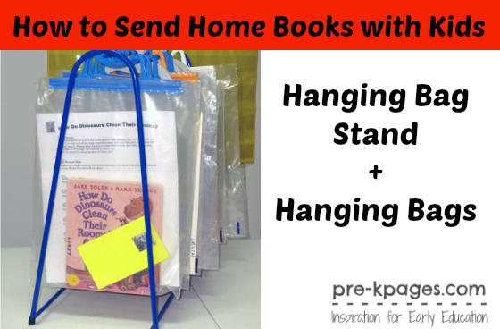How to Send Home Books with Kids in #preschool and #kindergarten Super Easy!!