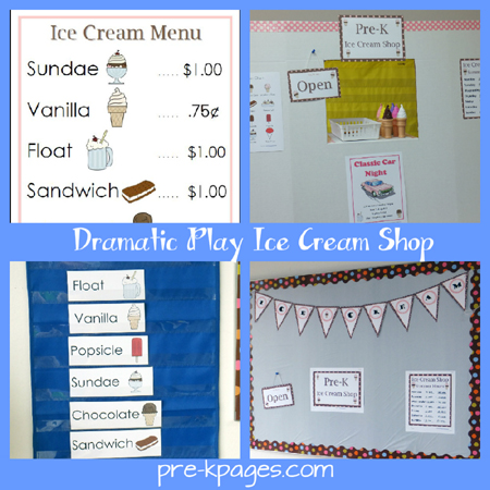 dramatic play ice cream shop