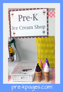 dramatic play ice cream stand